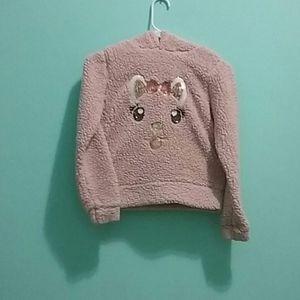 Other - Pink fuzzy sweatshirt
